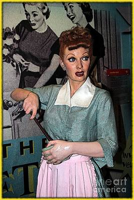 Lucille Photograph - Lucille Ball Cartoon by Sophie Vigneault