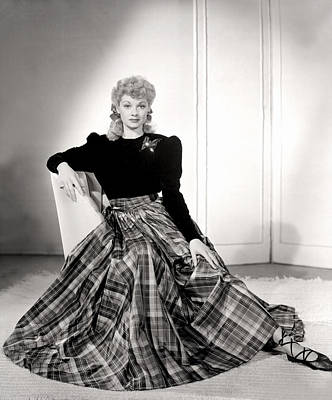Lucille Ball In A Portrait, 1940s Print by Everett