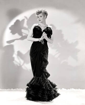 Lucille Ball Models A Lovely Black Art Print by Everett