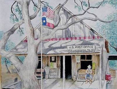 Texas Hill Country Painting - Luckenbach by Stefon Marc Brown