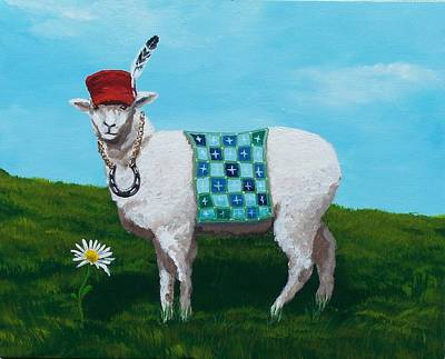 Painting - Lucky Ewe by Gene Ritchhart