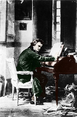 Ludwig Van Beethoven, German Composer Art Print by Photo Researchers, Inc.