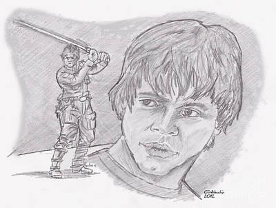 Luke Skywalker Episode V Art Print by Chris  DelVecchio