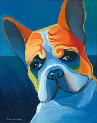 French Bulldog Painting - Lulu by Mike Lawrence