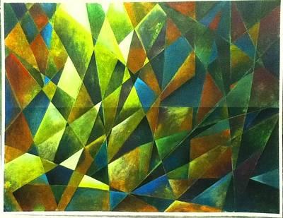 Jolalpan Painting - Lumiere Dans La Foret by Joe Santana