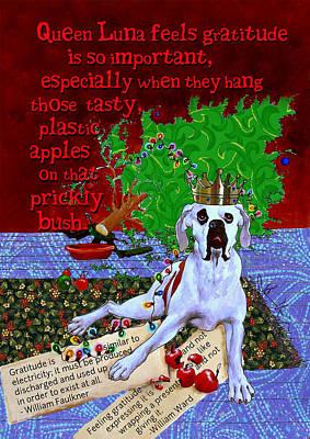 Boxer Dog Digital Art - Luna On Gratitude by Johanna Uribes