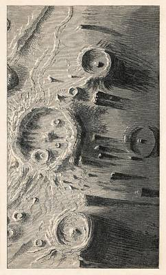 Lunar Craters, 1866 Artwork Art Print