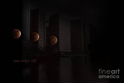 Photograph - Lunar Eclipse by Eena Bo