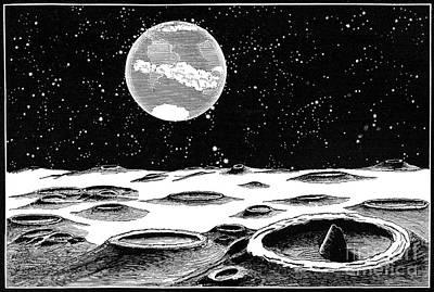 Photograph - Lunar Landscape, 1873 by Granger