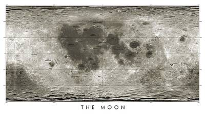 Lunar Map Art Print