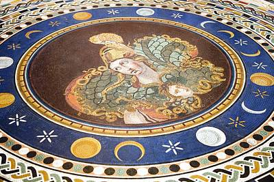 Warrior Goddess Photograph - Lunar Phases, 3rd Century Roman Mosaic by Sheila Terry