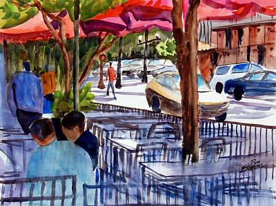 Lunch Alfresco Art Print by Ron Stephens
