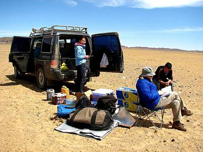 Photograph - Lunch Break Gobi Style by Diane Height
