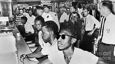 Lunch Counter Sit-in, 1961 Art Print by Granger