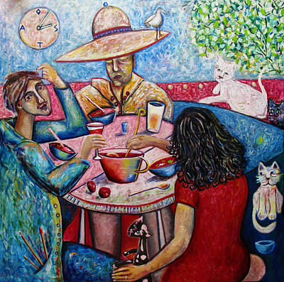 Lunch With Toller Cranston Art Print by Andrew Osta