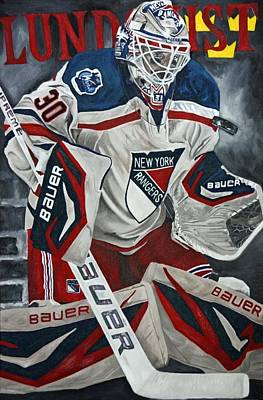 Henrik Lundqvist Painting - Lundqvist by David Courson