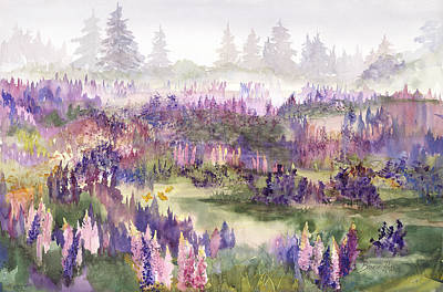 Lupines Galore Art Print