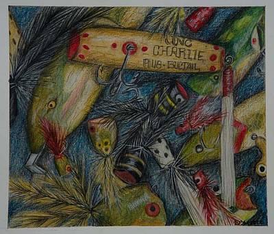 Lures II Art Print by Rebecca Moore