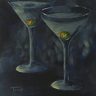 Martini Painting - Lurking Olives by Torrie Smiley
