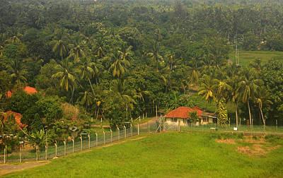 Red Roof Photograph - Lush Green. Sri Lanka by Jenny Rainbow