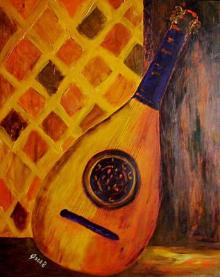 Lute By The Window Art Print by Oscar