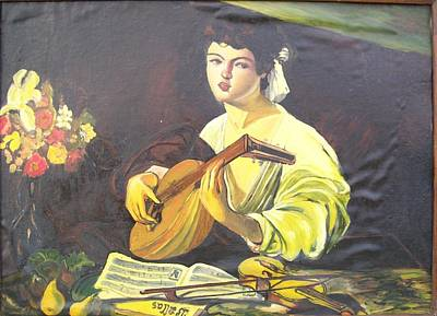 'lute Player' Original by Veronica Dinca