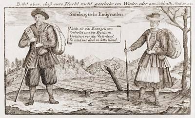 Lutheran Religious Refugees, Fleeing Art Print