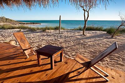 Luxurious Terrace On The Beach Art Print by Pierre-Yves Babelon