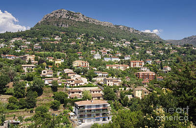 Luxury Hillside Houses And Apartments In Provence Art Print