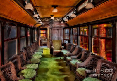 Digital Art - Luxury Vintage Trolley by Susan Candelario