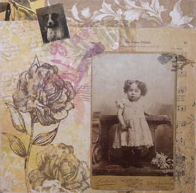 Little Girl Mixed Media - Luzanne by Roberta Rose