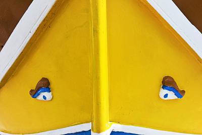 Marsaxlokk Photograph - Luzzu Boat Detail, With Eyes Of Osiris, Marsaxlokk by Nico Tondini