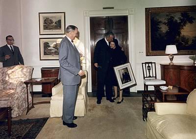 Lyndon And Lady Bird Johnson Moving Art Print