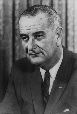 Photograph - Lyndon B Johnson by International  Images