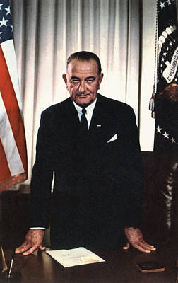 Lyndon Johnson 1908-1972, U.s Print by Everett