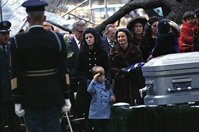 Lyndon Johnson Funeral. Lyn Nugent Print by Everett
