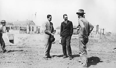 Lyndon Johnson Visiting A National Art Print by Everett