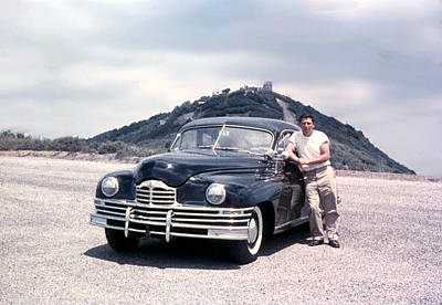 Lynn And His Packard Art Print by Lynn Bawden