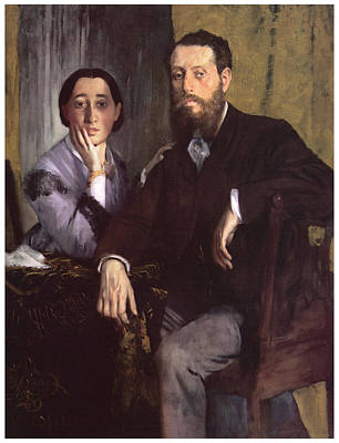 Husband And Wife Painting - M And Mme Edmondo Morbilli by Edgar Degas