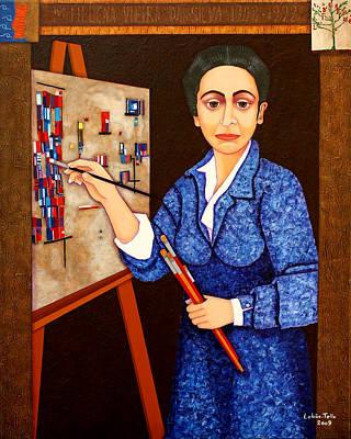 Painter Mixed Media - M. Helena Vieira Da Silva - The Dialogue Between Abstraction And Figuration by Madalena Lobao-Tello