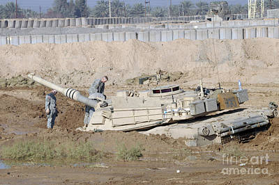 Photograph - M1 Abrams Tank Is Bogged When Trying by Terry Moore