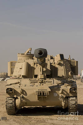 Photograph - M109 Paladin, A Self-propelled 155mm by Terry Moore