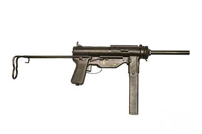 M3a1 Submachine Gun, 45 Caliber Print by Andrew Chittock