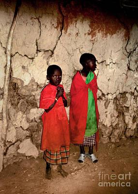 Photograph - Maasai Children by Tina Broccoli