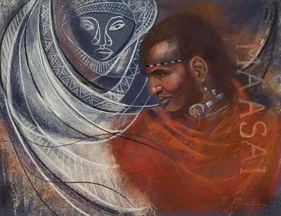 Painting - Maasai Prince by Pamela Mccabe