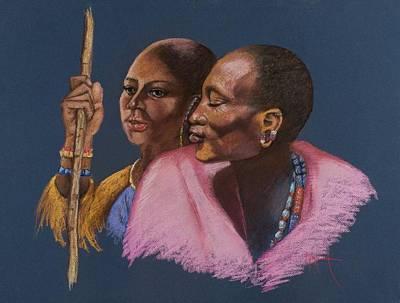 Painting - Maasai Soulmates by Pamela Mccabe