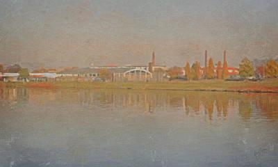 Briex Painting - Maastricht Along The Maas by Nop Briex