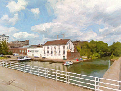 Painting - Maastricht Bassin by Nop Briex