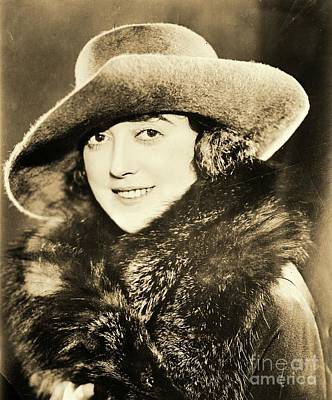 Fur Stole Photograph - Mabel Normand by Padre Art