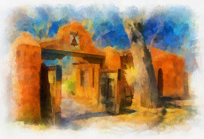Digital Art - Mabel's Gate Watercolor by Charles Muhle